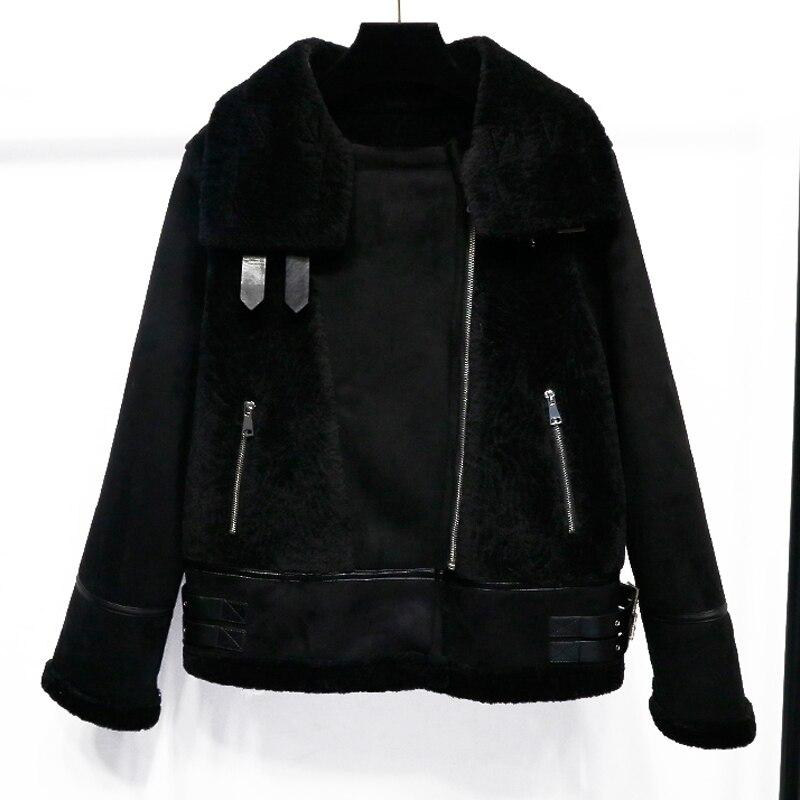 Fur Doublure D'hiver Fourrure Manteaux En Outwear Cuir Chaud Suède Vestes Faux De Jacket Locomotive Épaissir Et Peluche Femmes Coréenne aZxdRTwT