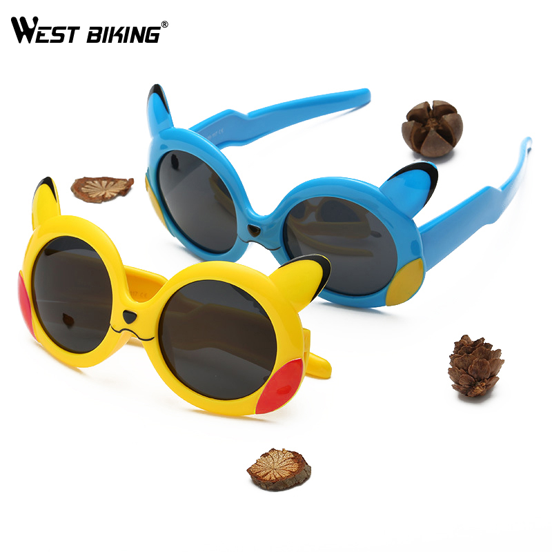Cycling Sunglasses Polarized Children Bike West Biking Ciclismo Kids UV400 Pikachu Boys