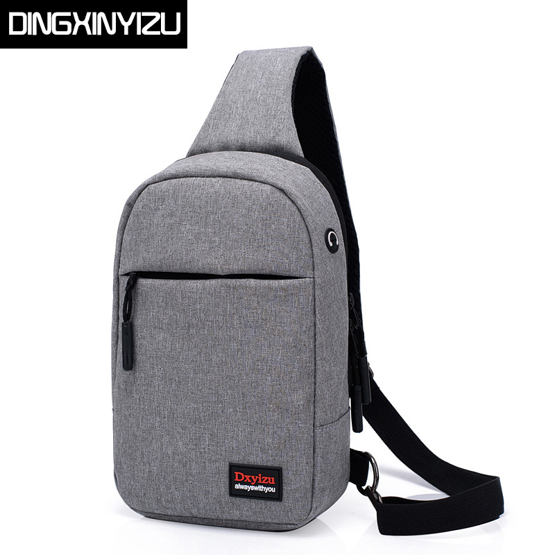 DINGXINYIZU Fashion Men Chest Pack Canvas Small Single Shoulder Strap Pack Bags For Women Casual Travel Back Pack Male Chest Bag audioquest water xlr 0 5m