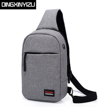 DINGXINYIZU Fashion Men Chest Pack Canvas Small Single Shoulder Strap Bags For Women Casual Travel Back Male Bag