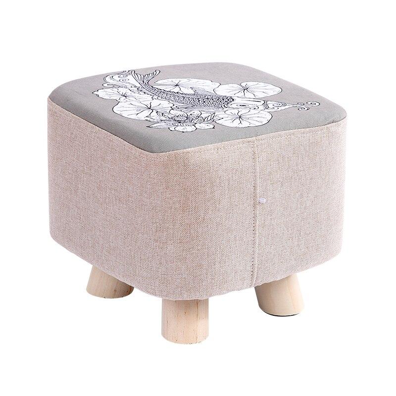 28x28x25 Cm Minimalistischen Modernen Quadratischen Sitzkissen Hocker Holz Wohnzimmer Sofa Waschbar Tabouret Polster Hocker Ottomane 4 Beine Krankheiten Zu Verhindern Und Zu Heilen