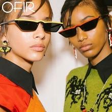 OFIR 2018 Moda Retro Small Cat Eye Sunglasses Mujeres Square Frame Sexy Diseño de Marca Gafas de Sol Femeninas Gafas gafas de sol