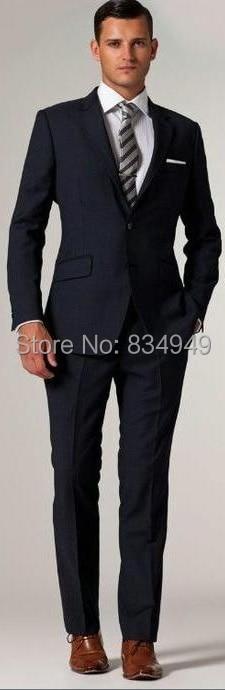 Aliexpress.com : Buy Midnight Blue Tuxedo Custom Made Groom Suit ...