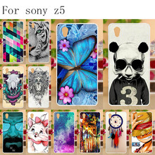 Anunob Mobile Phone Cases For Sony Xperia Z5 Case Silicone E6603 E6653 Dual E6633 E6683 5.2  Soft TPU Cover
