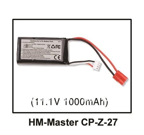 walkera master cp spare parts li po battery 11 1v 1000mah