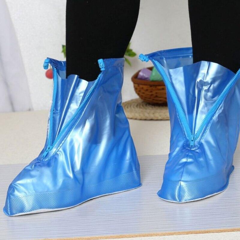 купить THINKTHENDO Reusable Unisex Women Men Waterproof Protector Boots Cover Rain Shoes Anti-Slip PVC Rain Shoes 2018 New по цене 305.31 рублей
