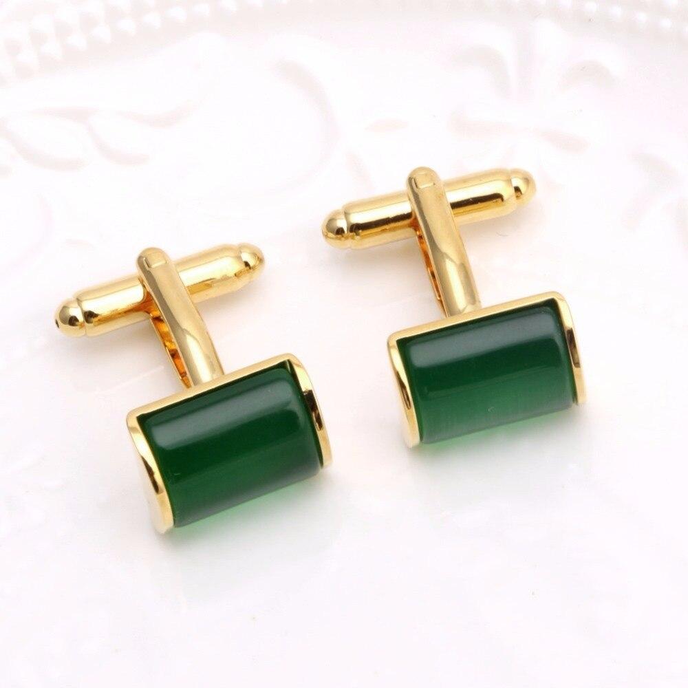 1 Pair Elegant Green Opal Stone Mens Wedding Party Gift Shirt ...