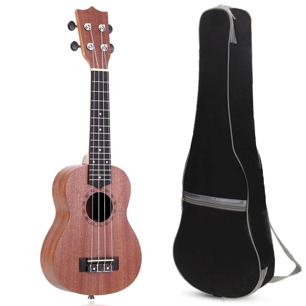 21 Ukulele Guitar Acoustic Soprano 4 Strings Guitarist Beginner Musical Instruments with Ukelele Bag