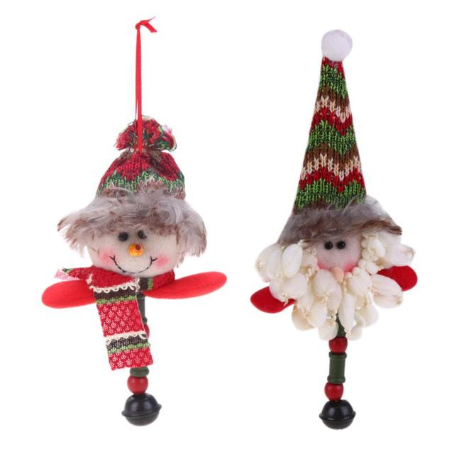 home christmas tree shelf decoration santa snowman decoration hanging ornaments craft supplies new year decor