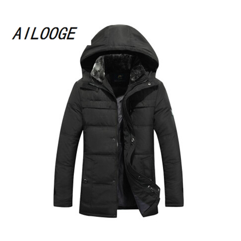 2016 new arrival fashion casual   down     coat   male thickening medium-long winter outerwear high qualtiy warm plus isze LXL2XL3XL4XL