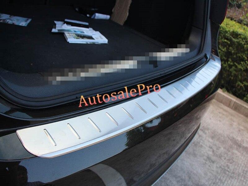 a8549e9ad33cc ل bmw x1 e84 2009 2010 2011 2012 المقاوم للصدأ حارس المصد الخلفي لوحة  الغلاف الخارجي 2 قطع