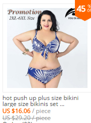 99fe57b56f Detail Feedback Questions about hot push up plus size bikini large ...
