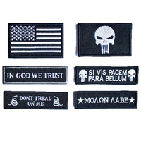 Tactical Military Morale Patch Badge Set Black In God We Trust Don T Tread On Me
