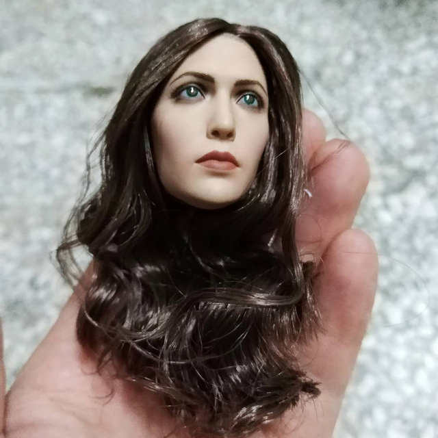 1 6 Elizabeth Olsen Scarlet Witch Head sculpt 3.0 Female Head Carving  Beauty Head Sculpt For 12