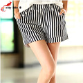 Vertical Stripes Summer Shorts Leisure New 2016 Shorts Women Loose Style High Waist Hot Shorts Plus Size 3XL Wide-Legged