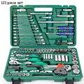 LSQXIGJ-01 121 Stück Set Auto Repair Tool Box Hülse Schlüssel Haushalt Auto Reparatur Kit Ratsche Reparatur Hand Werkzeuge Reifen Demontage