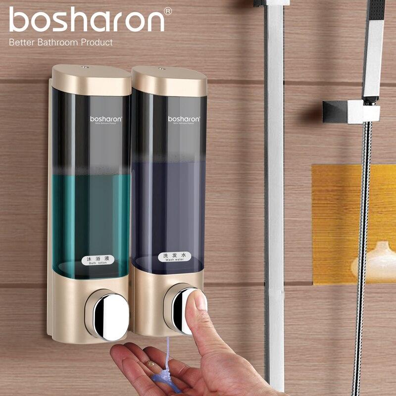 Bathroom Liquid Soap Dispenser Wall Mounted For Kitchen Plastic 300ml Shower Gel Detergent Shampoo Bottle Hotel