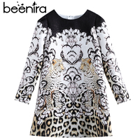 Beenira Children Winter Dress 2018 New Fashion Style Kids Long Sleeve Animals Pattern Dress Design 3 14Y Exquisite Clothes Dress
