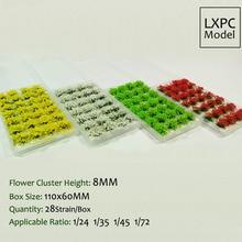 Модель сценария пол материал Цветущая растительность имитация травы лепесток модель DIY Ручная сцена производство