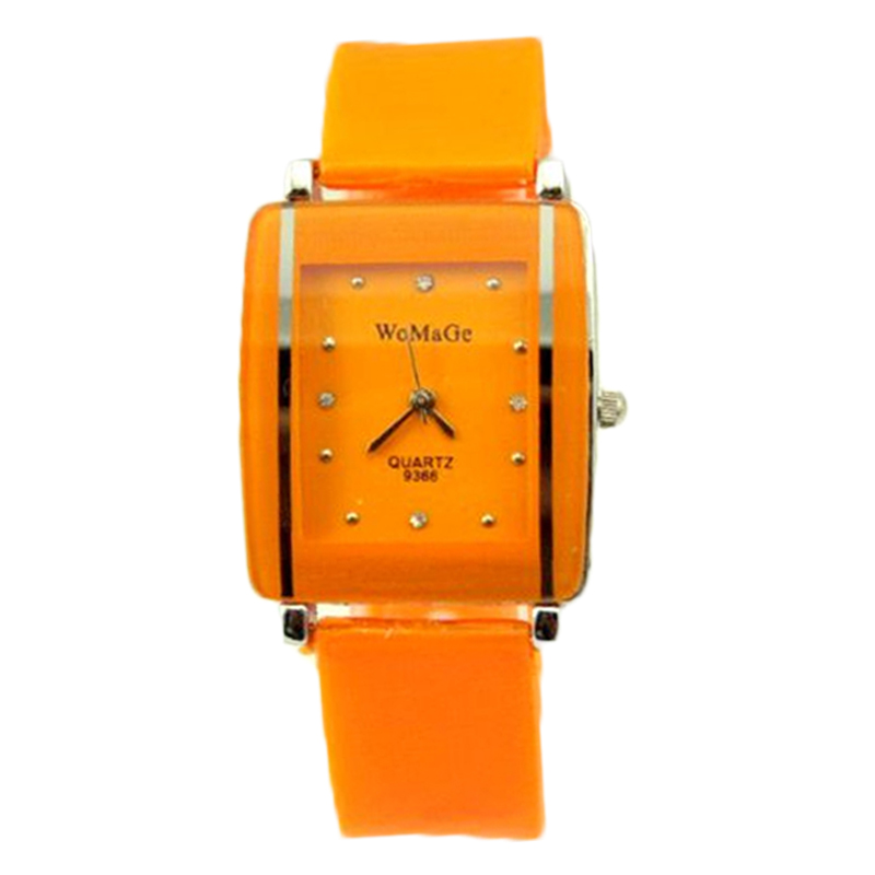 New Designer Lady Elegant Square Dial Crystal Watch Girls Fashion Bracelet Wristwatch 11 Colors Silicone Band Women Quartz Watch 2016 new price drop silicone watch women chain watch band high quality wristwatch personality digital diamonds quartz watch new
