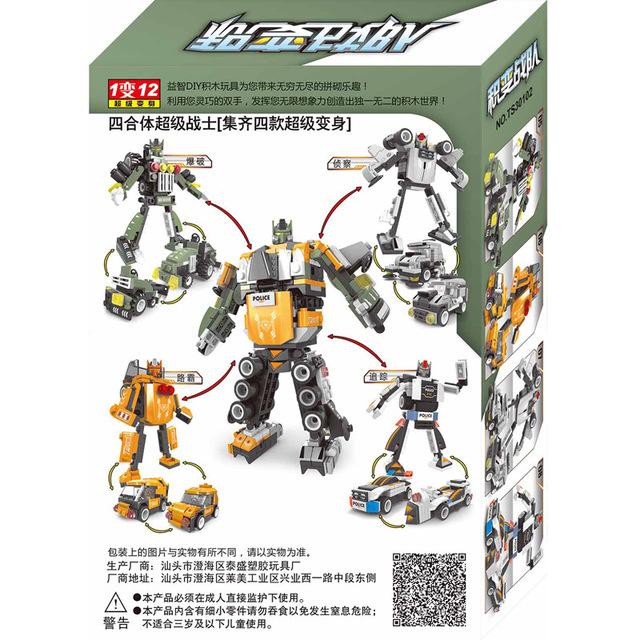 12 Estilos de 4 Caixas/Lote Atirador Soldado Modelo Blocos de Construção de Brinquedos de Aprendizagem Brinquedos Hobbies Modelos de Simulação 3D