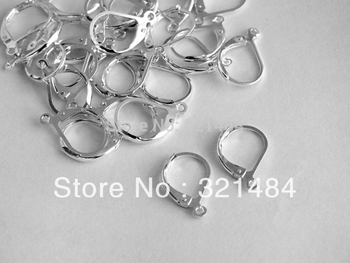 Free ship Rhodium plated 1000piece 15mm leverback earring hooks earwires nickel free earring findings