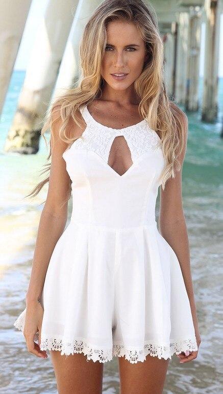 Sexy white summer dress