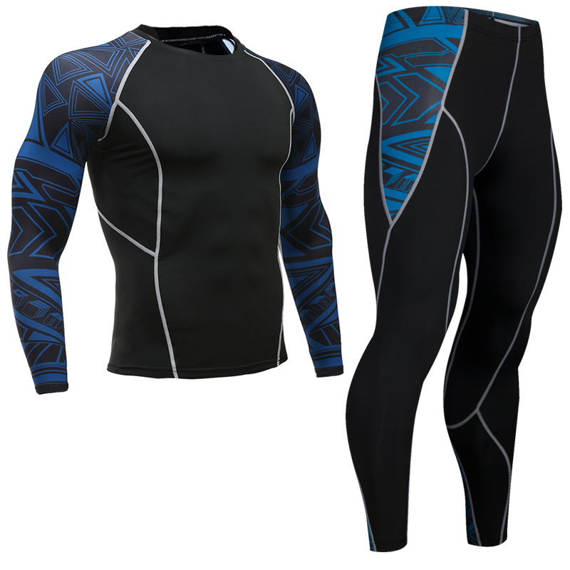 Newest-Fitness-Compression-Sets-Jerseys-Men-3D-Printed-MMA-Crossfit-Muscle-Shirt-Leggings-Base-Layer-Tights (1)