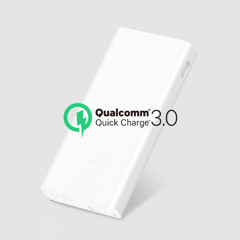 Original Xiao mi banco de energía 20000 mAh 2C cargador Dual USB Portable mi batería externa 20000 para los teléfonos móviles y tabletas