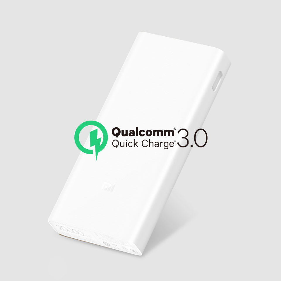 Original Xiaomi Power Bank 20000mAh 2C Portable Charger Dual USB Mi External Battery Bank 20000 for