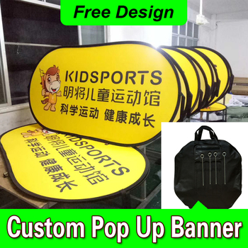 Free Design Free Shipping Horizontal A Frame Banner Pop Out Banners Pop Up Sideline Banners