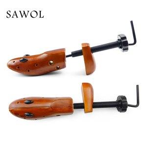 Image 5 - Árbol de zapatos 1 par de zapatos de madera para hombres y mujeres zapatos expansores ancho y altura ajustable Zapatero Shaper Rack Sawol