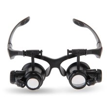 Jeweler Loupe Led Magnifier Headband Eyewear Glass-Repairing-Tool 8-Lens 10x15x 20x25x
