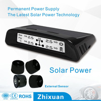(2 sets/lot) In Stock! Zhixuan TPMS tire pressure monitoring system With 4 external sensors 433.92Mhz LCD display