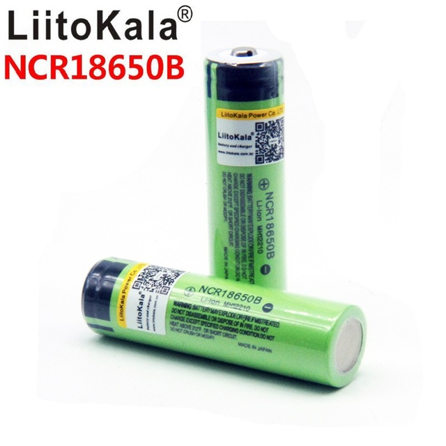 8PCS liitokala 18650 3400mah חדש מקורי NCR18650B 3200 3400 סוללת ליתיום לפנס