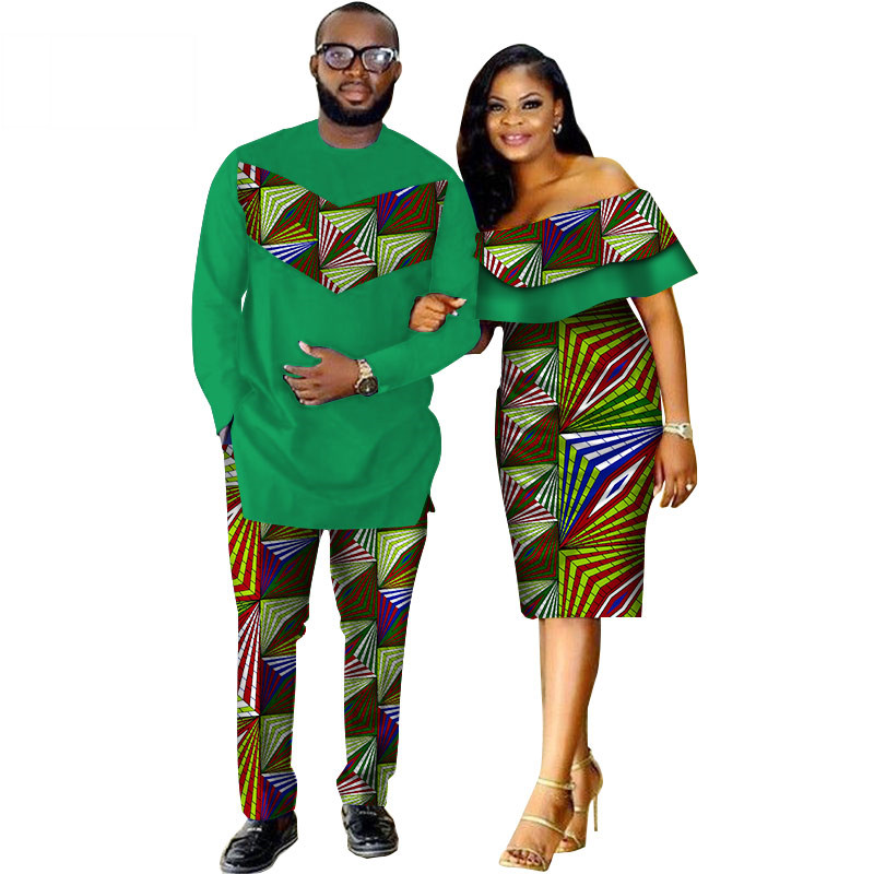 African-Dashiki-Print-Couple-Clothing-for-Lovers-Two-Piece-Set-Men-s-Suit-Plus-Women-s(18)
