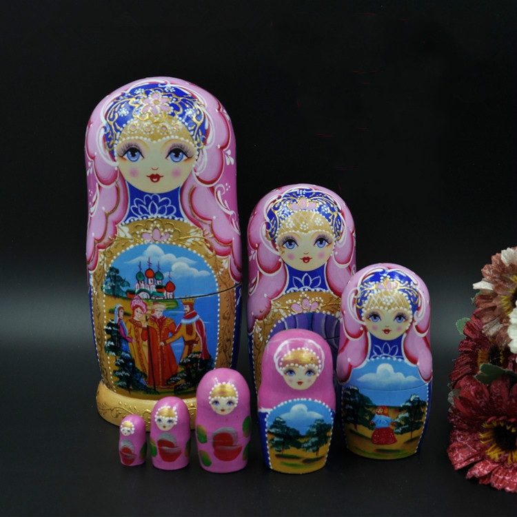 21 cm 7 couches en bois fait à la main matriochka poupées créatives décoration de la maison enfants éducation jouets poupées russes jouets de nidification