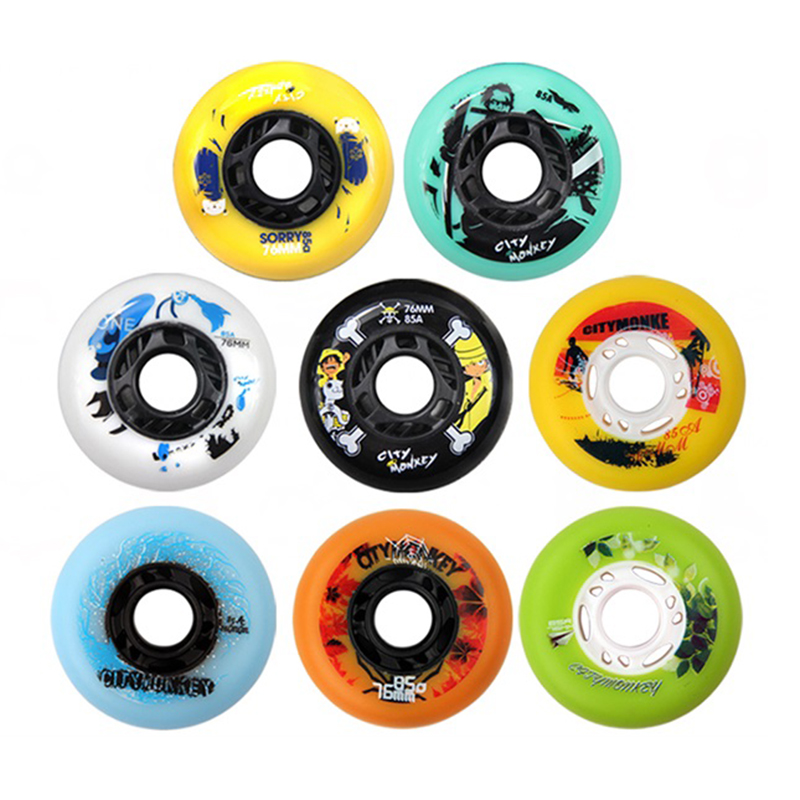 Free Shipping Roller Skate Wheels Lighting Wheels 85 A PU Wheel 8 Pcs Per Lot
