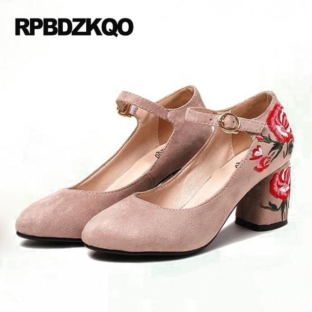 Zapatos rojos de primavera de punta redonda casual para mujer XPoCmG9z