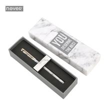 Никогда не Мрамор зерна металла магнит Ручка гелевая ручка черные чернила 0.5 мм креативный подарок Вышивка Крестом Пакет Канцелярские Мода для офиса и школы поставки