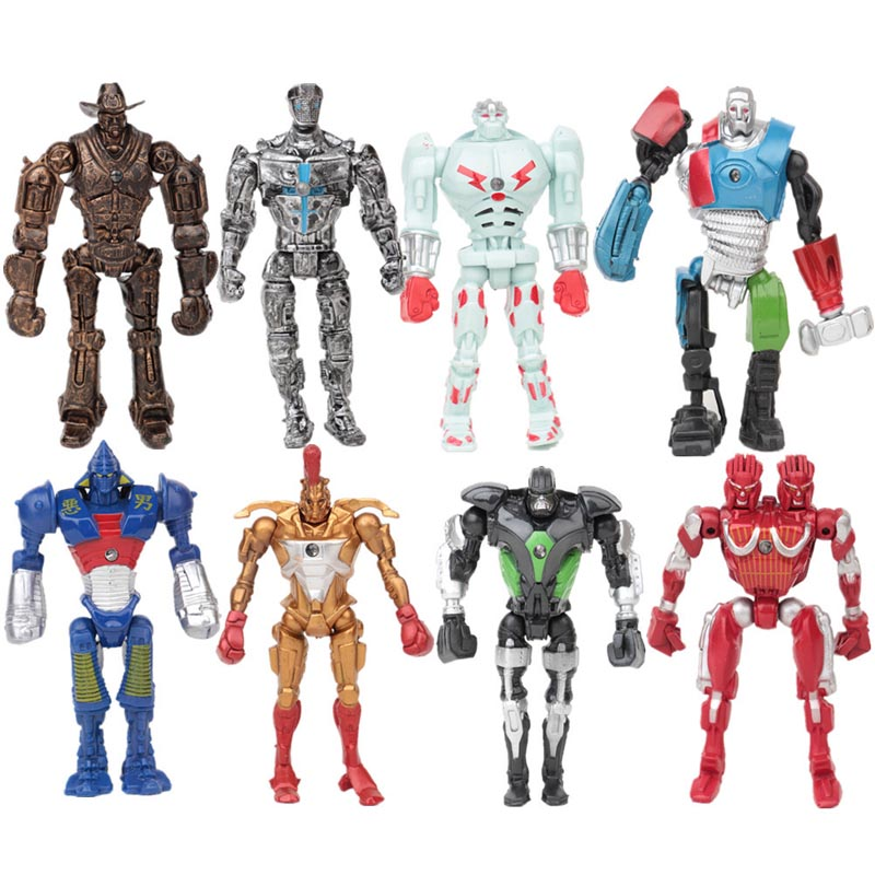 Real Steel HD PVC Action Figure Collection Model Toys Classic Toys Christmas Gift 8pcs/set  Christmas gift Free shipping original box sonic the hedgehog vivid nendoroid series pvc action figure collection pvc model children kids toys free shipping