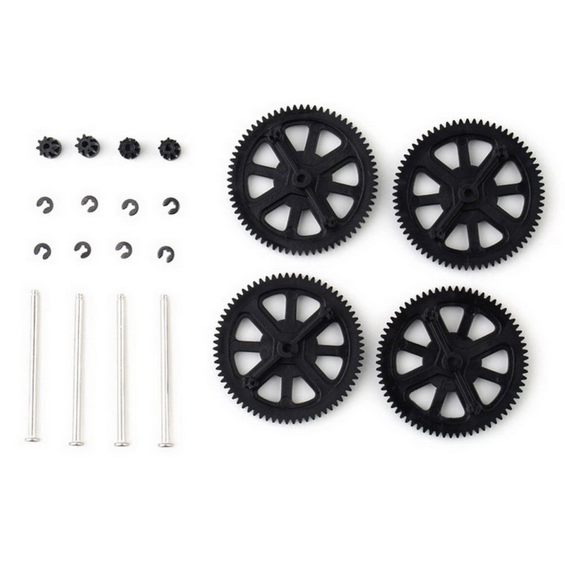 1 Set Upgrade Motor Pinion Gear Gears&Shaft Replacement For Parrot Ar Drone 1.0 2.0 Black Green Free Shipping