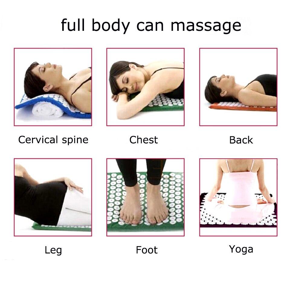 Массаж жастығы жастығы Acupressure Mat Yoga - Денсаулық сақтау - фото 5