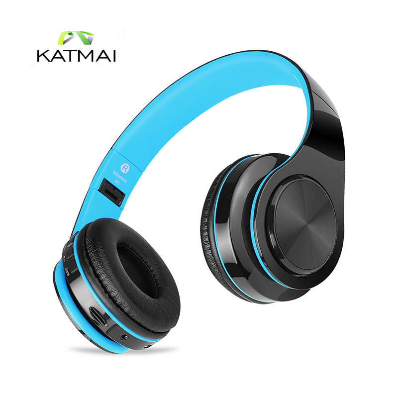 KATMAI Original Wireless Bluetooth Headphones Bluetooth 4.1 Stereo Bass Headset With Mic Support TF Card Earphones For Iphone 7