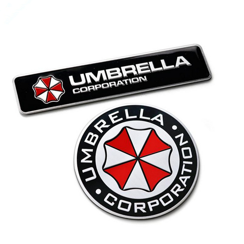 3D Aluminum Umbrella corporation car sticker for Land Rover LR4 LR3 LR2 Range Rover Evoque Defender Discovery Freelander