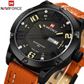 2016 naviforce Mens Watches Top Brand Luxury Sport Casual Watch Quartz Men Genuine Leather Military Sport Watch Clock Men saat