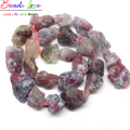 10-20mm Freeform Natural Tourmaline Nugget Rough Punched Loose Stone Drilled Irregular Beads 15inch/strand (F00535)