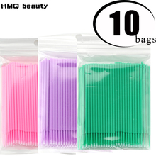 Wholesale 1000pcs/lot Disposable Makeup Brushes Swab Microbrushes Eyelash Extension Tools Individual Lash Removing Tools