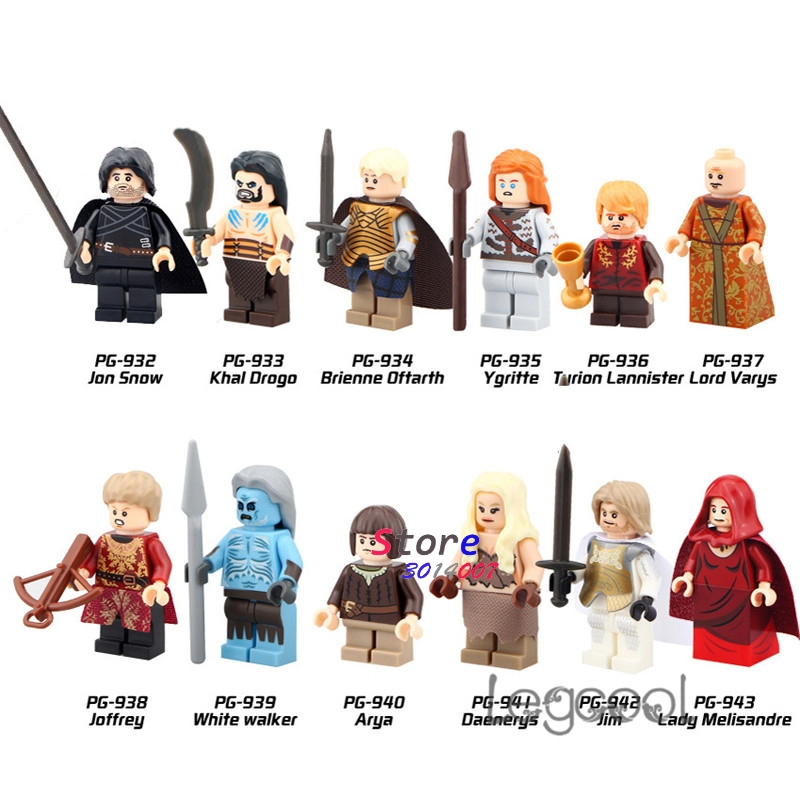 1pcs Model Building Block Game Of Rights Jon Snow Khal Drogo Lord Varys Joffrey White Walker Daenerys Jim Toys For Children Gift Good Heat Preservation Blocks Model Building