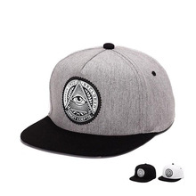 Classic 5 Panels Snapback Flat 3d God Cotton Mens Eyes Plastic Wing Patch Baseball Caps Hat